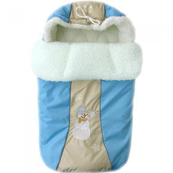 Конверт меховой Little People Снежинка 12002 Голубой Зима