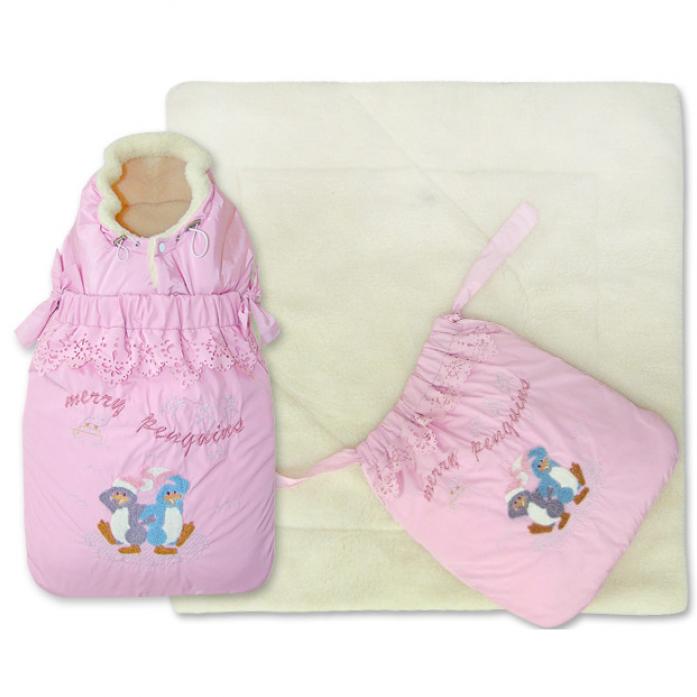 Конверт-трансформер Little People Кокон 12036 Розовый Зима