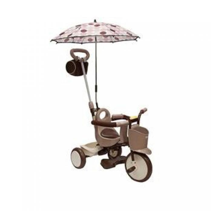 Зонтик IIMO Коричневый в горошек 11Z
