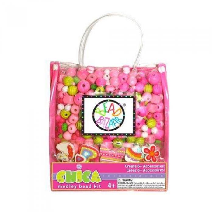 Набор Bead Bazaar Сумочка большая Розовая 2031