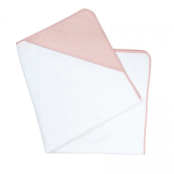 Полотенце Candide Ma Jolie Fleur Белый с розовым капюшоном 100х100 см 184100
