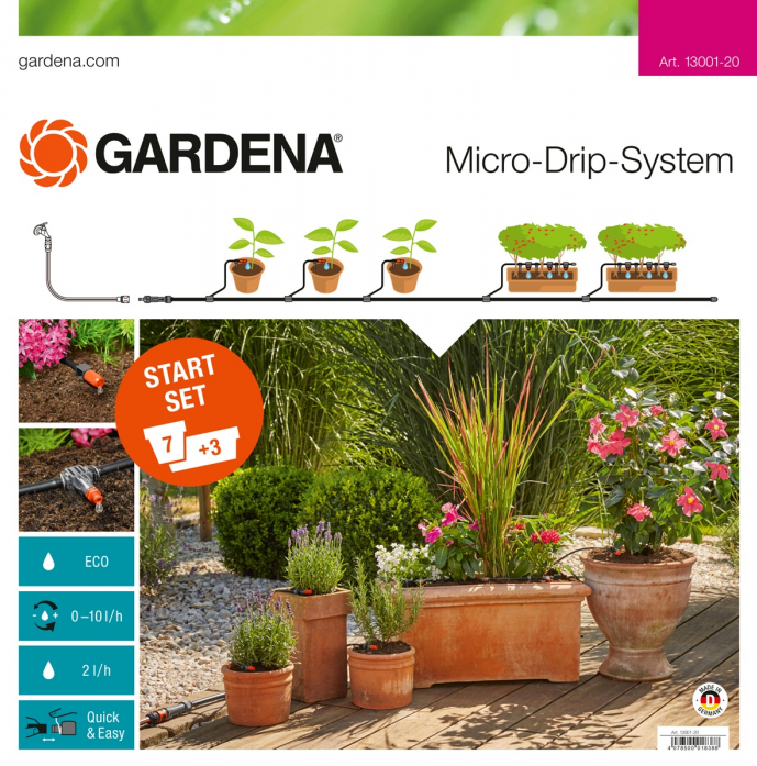 Комплект микрокапельного полива Gardena с таймером 13002-20.000.00