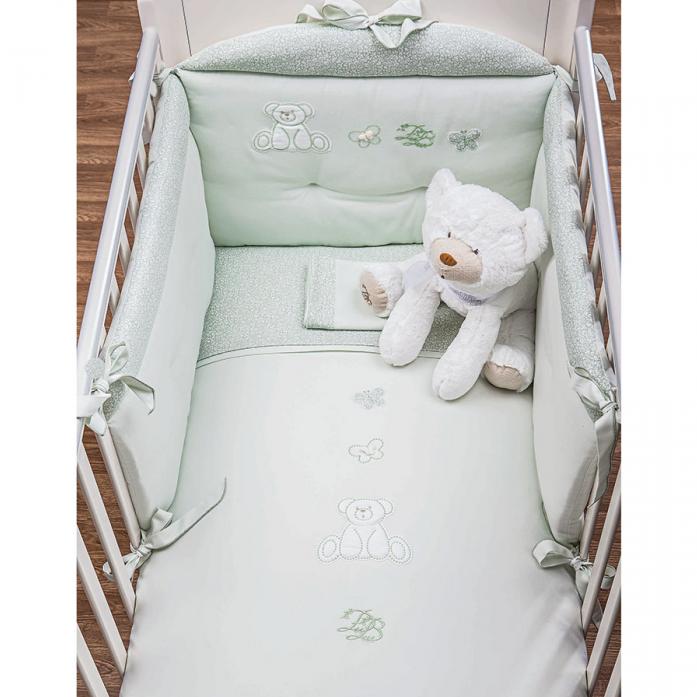 Комплект постельного белья Picci Mousse Little bears Green 3 предмета D1215-06