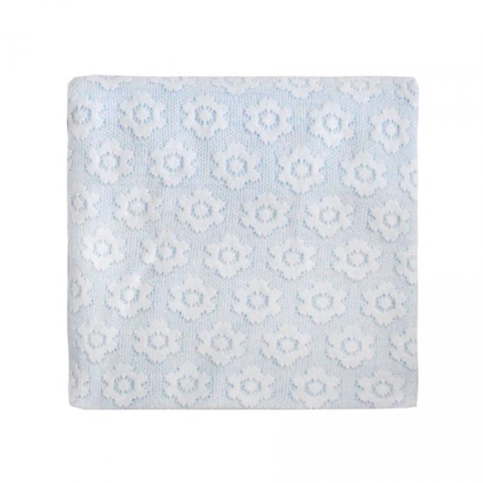 Плед Лео Цветы 100х90 Белый 1652