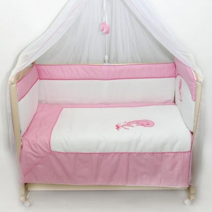 Комплект постельного белья Bombus Дельфинчик 7 предметов розовый