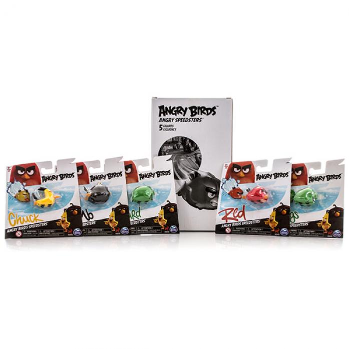 Игрушка Angry Birds Набор из 5 птичек на колесах 90508