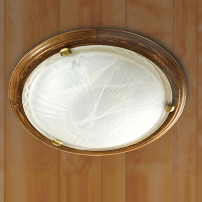 как снять лампу круглую