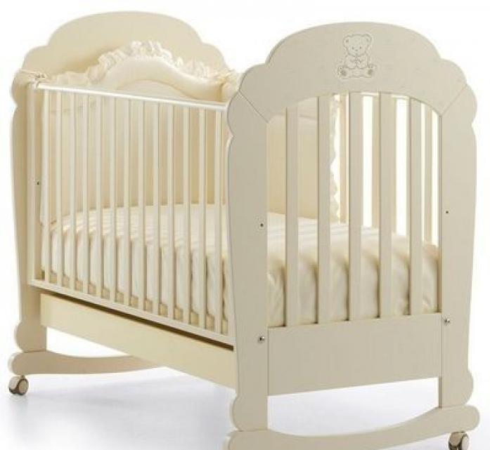 Кроватка Erbesi Cot Brillante слоновая кость