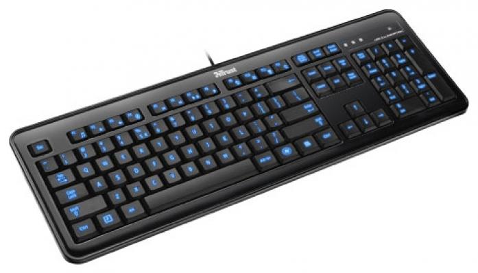 Клавиатура Trust Elight LED Illuminated Keyboard Black USB (17372)