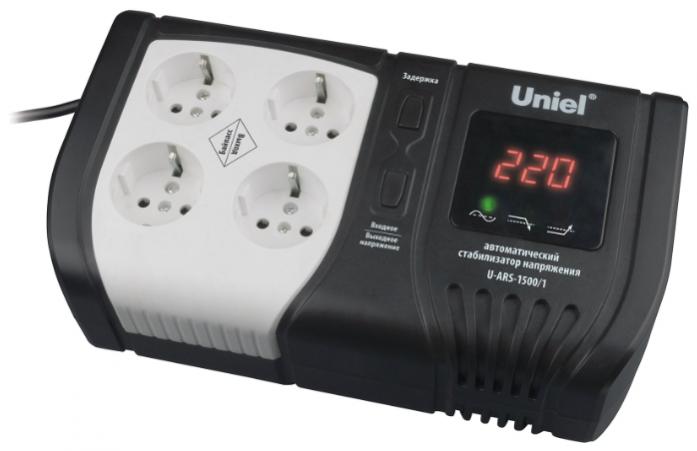 Стабилизатор напряжения Uniel Expert (09623) 1500ВА U-ARS-1500/1