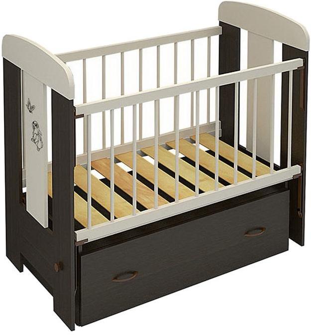 Кровать Алмаз-Мебель Зайка венге/ваниль (маятник)