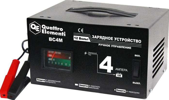Зарядное устройство QUATTRO ELEMENTI BC 4M (12В, 4А)