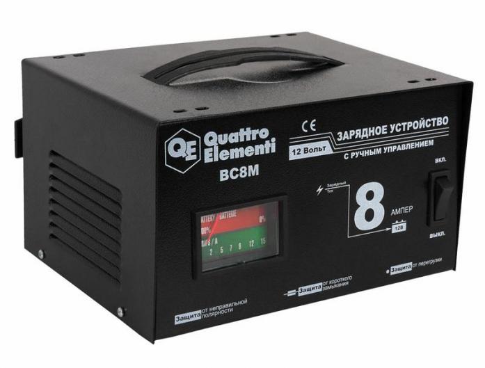 Зарядное устройство QUATTRO ELEMENTI BC 8M (12В, 8А) 770-087