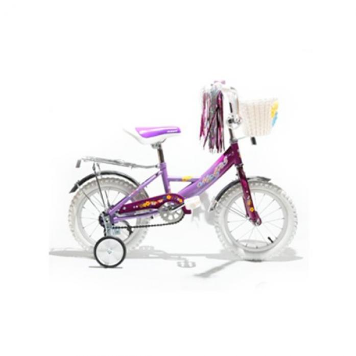 """Велосипед Mars 12"""" Girl с ручкой violet 2011г. с корзиной"""