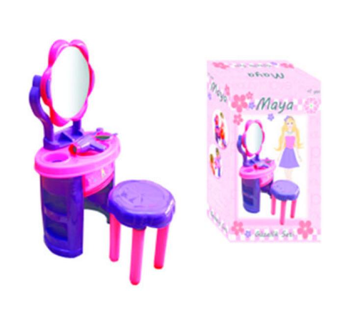 Туалетный столик Ucar Oyuncak Maya Beauty Set с зеркалом и аксессуарами +стул 128