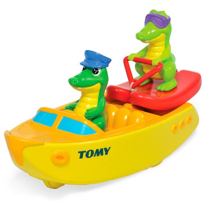 Игрушка для ванной Tomy Крокодил на водных лыжах T72358