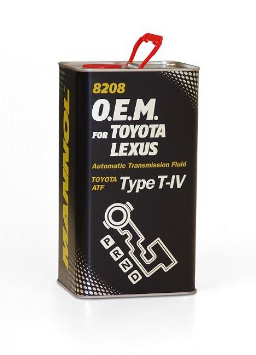 Масло трансмиссионное Mannol (SCT) O. E. M. for Toyota Lexus ATF T-IV 8208 4л металл 3043