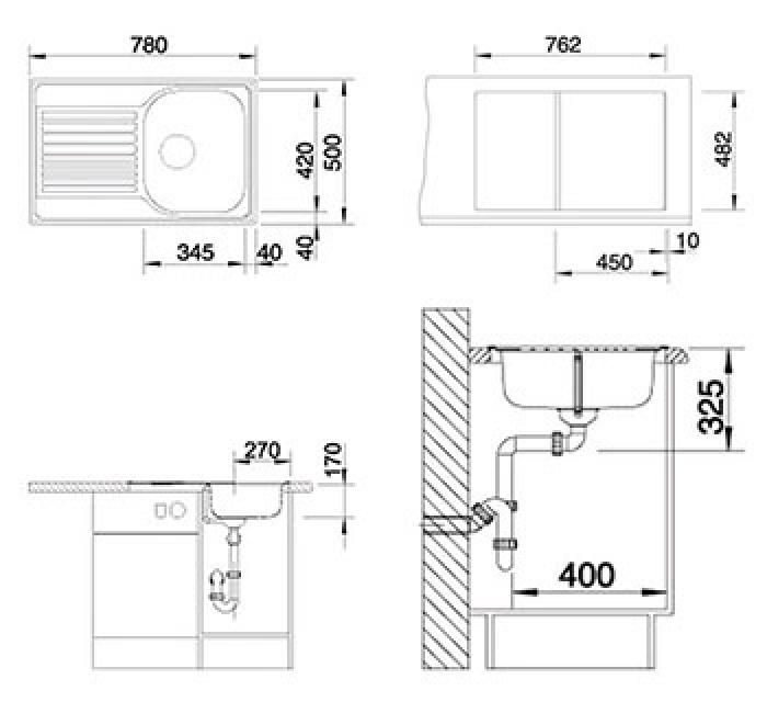 Кухонная мойка Blanco Tipo 45 S Compact (513441)